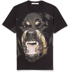 Givenchy Cuban-Fit Rottweiler-Print Cotton T-Shirt