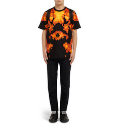 Givenchy Columbian-Fit Flame-Print Cotton-Jersey T-Shirt