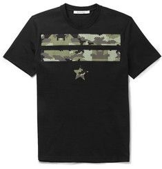 Givenchy Camouflage-Print Cotton T-Shirt