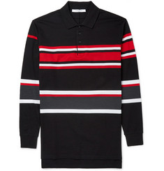 Givenchy Columbian-Fit Striped Cotton-Piqué Polo Shirt