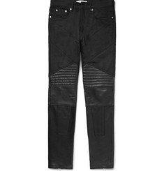 Givenchy Cuban-Fit Leather-Panelled Denim Jeans