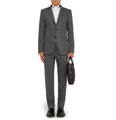 Givenchy Grey Slim-Fit Textured Wool-Blend Suit
