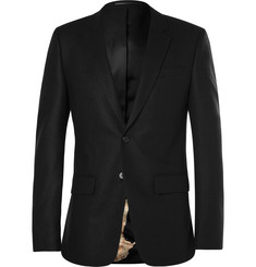Givenchy Black Wool and Cashmere-Blend Blazer
