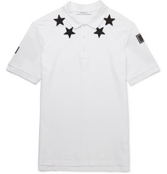 Givenchy - Appliquéd Cotton-Piqué Polo Shirt