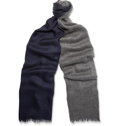 Loro Piana Duo Two-Tone Cashmere and Silk-Blend Scarf
