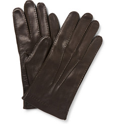 Loro Piana Cashmere-Lined Leather Gloves