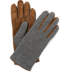 Loro Piana Suede and Cashmere Gloves