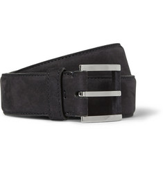 Loro Piana - 3.5cm Navy Nubuck Belt