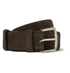 Loro Piana - 3.5cm Brown Suede Belt