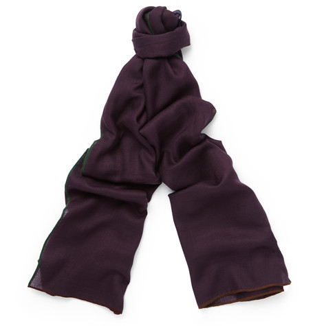 loro piana male 215965 loro piana winter four in hand cashmere and silkblend scarf burgundy