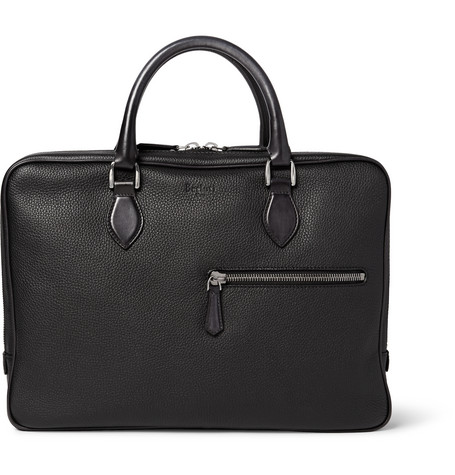 berluti male 188971 berluti f007 grainedleather briefcase black