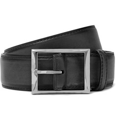 Berluti 3.5cm Black Leather Belt
