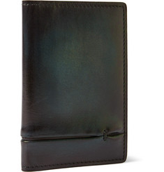 Berluti Jagua Gaspard Burnished Leather Cardholder