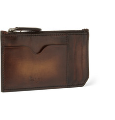 Berluti Koa Burnished-Leather Zipped Cardholder