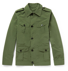 Gucci Leather-Trimmed Canvas Field Jacket