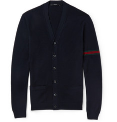 Gucci Fine-Knit Wool Cardigan
