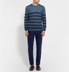 Gucci Striped Mohair and Silk-Blend Sweater