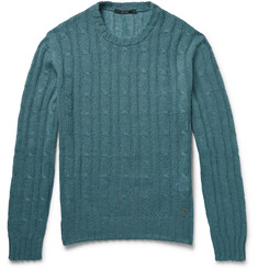 Gucci Cable-Knit Cashgora Sweater