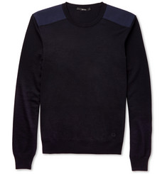 Gucci Silk-Trimmed Wool Sweater