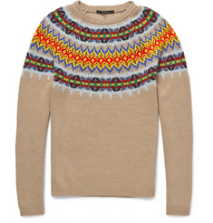Gucci Knitted Wool and Cashmere-Blend Fair Isle Sweater