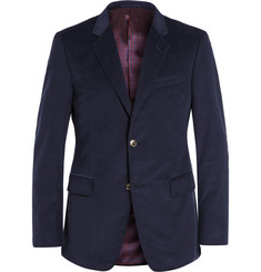 Gucci Navy Slim-Fit Cotton-Corduroy Blazer