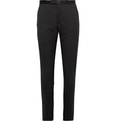 Gucci Black Slim-Fit Silk-Trimmed Wool Tuxedo Trousers