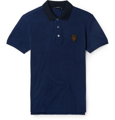 Gucci Slim-Fit Cotton-Blend Polo Shirt