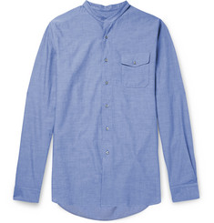 Gucci Duke Grandad-Collar Cotton Shirt