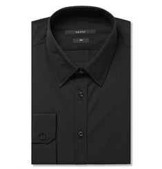 Gucci Black Slim-Fit Cotton-Poplin Shirt