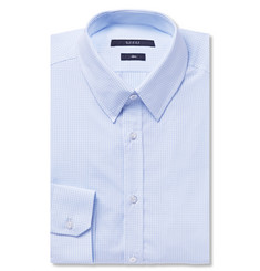 Gucci Blue Gingham Check Cotton-Poplin Shirt