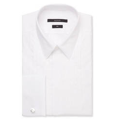 Gucci White Slim-Fit Cotton Dress Shirt