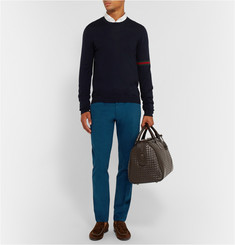 Gucci Slim-Fit Brushed Cotton-Twill Trousers