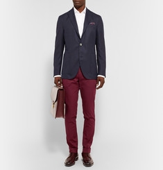 Gucci Slim-Fit Stretch Cotton-Gabardine Trousers