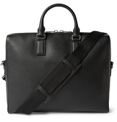 Gucci - Black Grained-Leather Briefcase