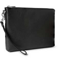 Gucci Textured-Leather Pouch