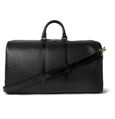 Gucci Diamante Textured-Leather Holdall