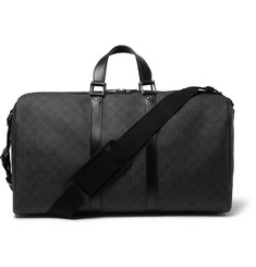 Gucci Leather-Trimmed Monogrammed Canvas Holdall