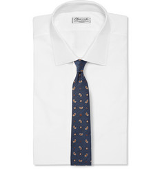 Gucci Embroidered Silk-Blend Tie