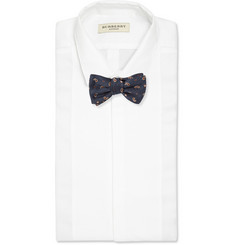 Gucci Embroidered Silk-Blend Bow Tie
