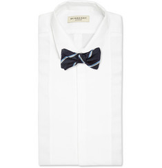 Gucci Striped Silk-Blend Bow Tie