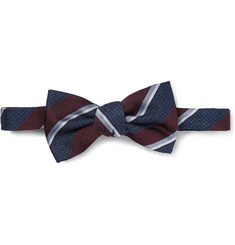 Gucci - Striped Silk-Blend Bow Tie