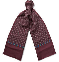 Gucci Medallion-Print Silk-Twill Scarf
