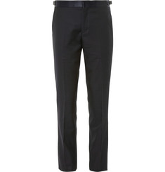 Paul Smith London Mayfair Navy Slim-Fit Wool-Jacquard Tuxedo Trousers