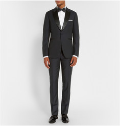Paul Smith London Mayfair Slim-Fit Wool-Jacquard Tuxedo Trousers