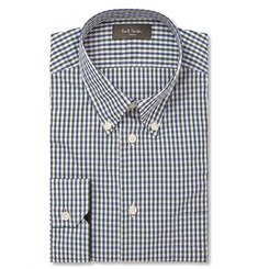 Paul Smith London Blue Gingham Checked Cotton Shirt