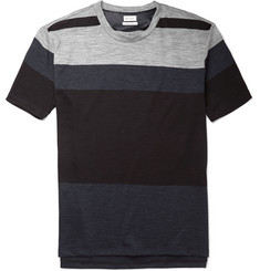Paul Smith Panelled Wool and Cotton-Blend Jersey T-Shirt