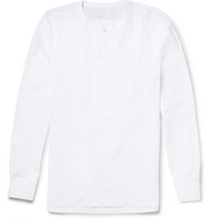 Paul Smith Grandad-Collar Cotton-Poplin Shirt