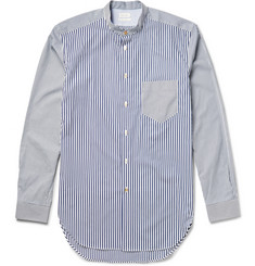 Paul Smith Striped Grandad-Collar Cotton Shirt