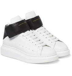 Alexander McQueen - Exaggerated-Sole Leather High-Top Sneakers