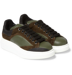 Alexander McQueen - Leather and Suede Sneakers